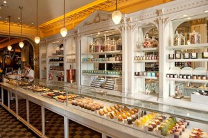 The delectable patisserie display at Angelinas