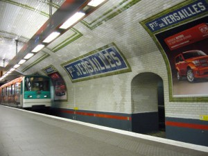 Metro station at Versailles