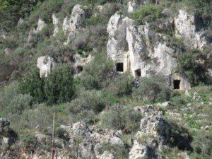Rock Tomb Clif in Gokova, Turkey