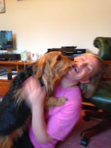 House-sitter adored by the dog she is house-sitting