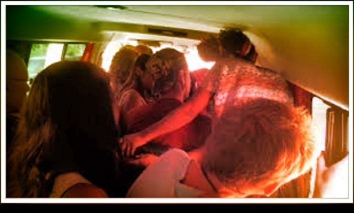 Crowded van in a rideshare