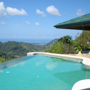 Infinity pool at the villa in Costa Rica