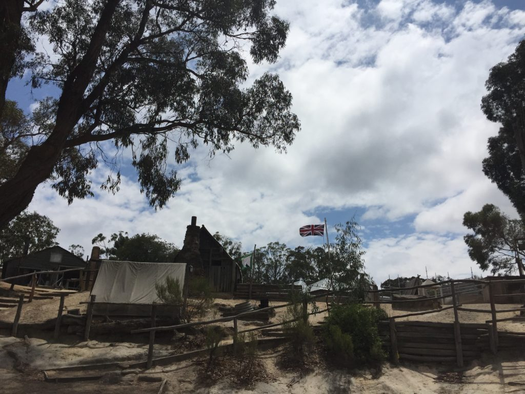 Traveling Australia - Gold prospectors camp recreated at Sovereign Hill
