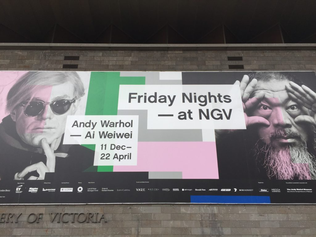 Poster for the NVG 2016 Andy Warhol and Ai Wei Wei Exhibition