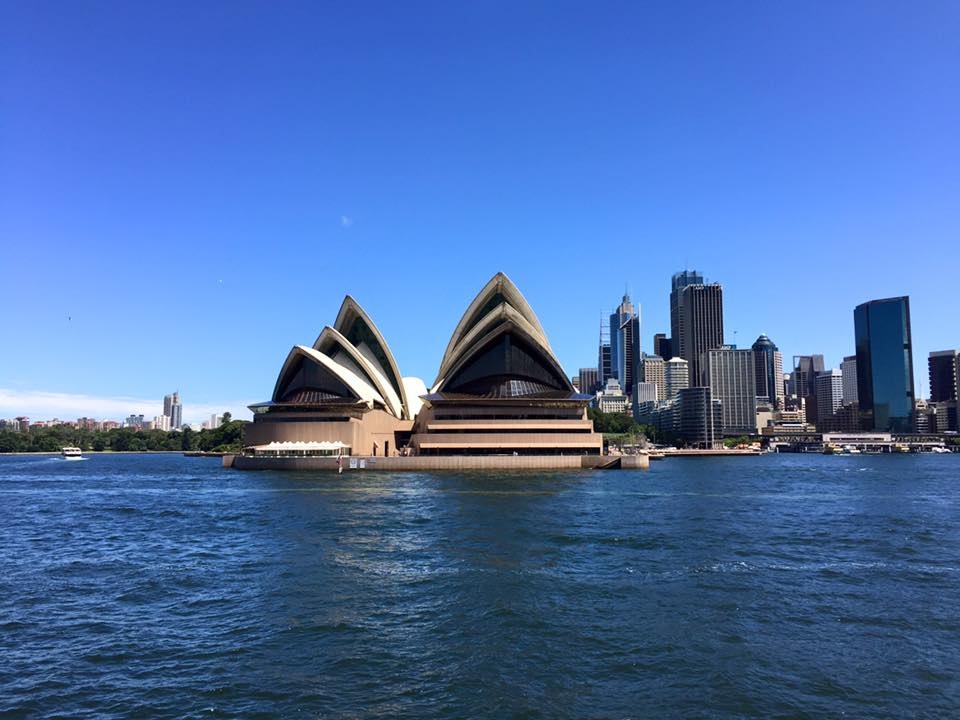 Traveling Australia - Sydney Opera House Australia, seen from the ferry - housesitting in Australia