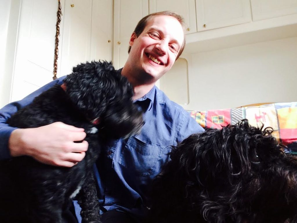 The dogs show David the dog-sitter a great deal of affection - house-sitter Maidenhead