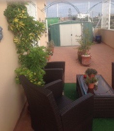 The sun terrace with furniture