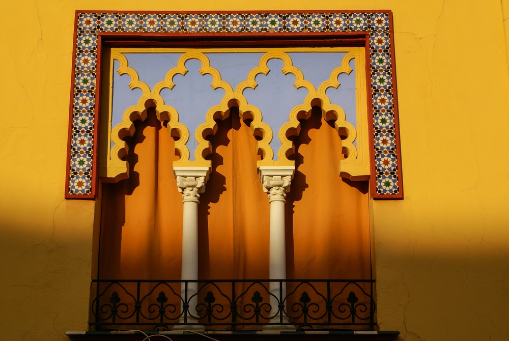 Detail of window in Mosque-Cathedral in Cordoba SPain
