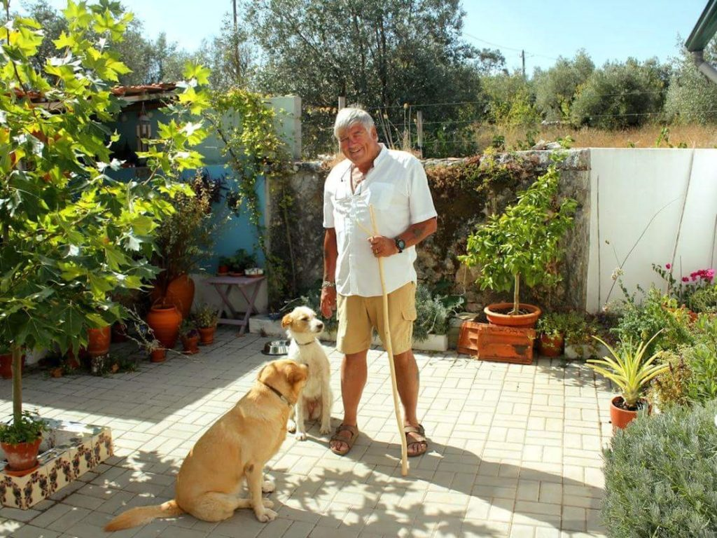 about housesitting - dogs helping with the gardening