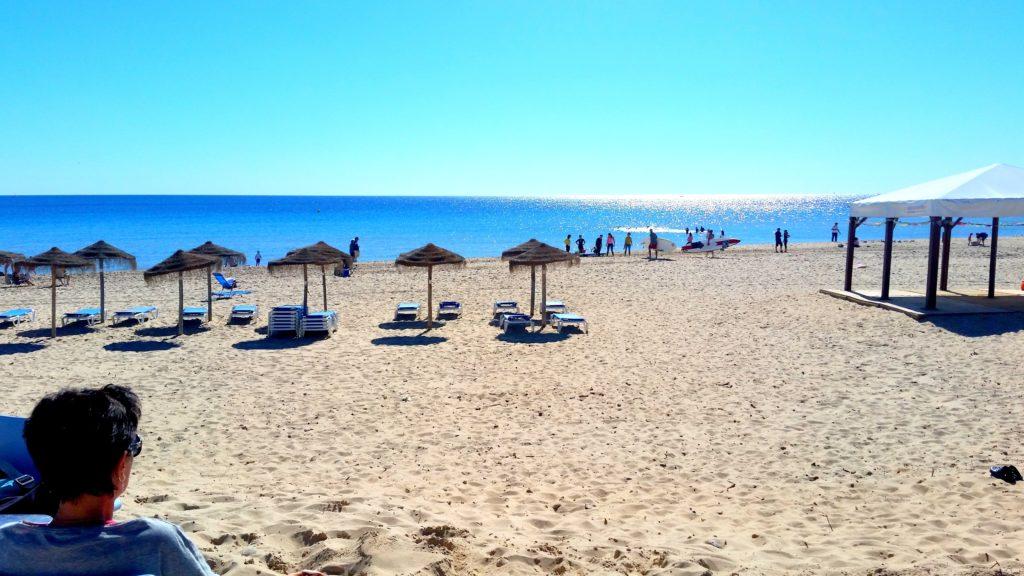 TeresaKrelle BEACH Orihuela SPAIN withsun umbrellas - BLUE