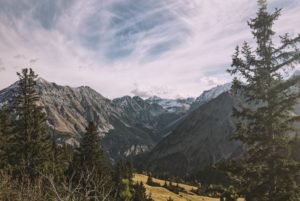 Landscape of mountains in Austria