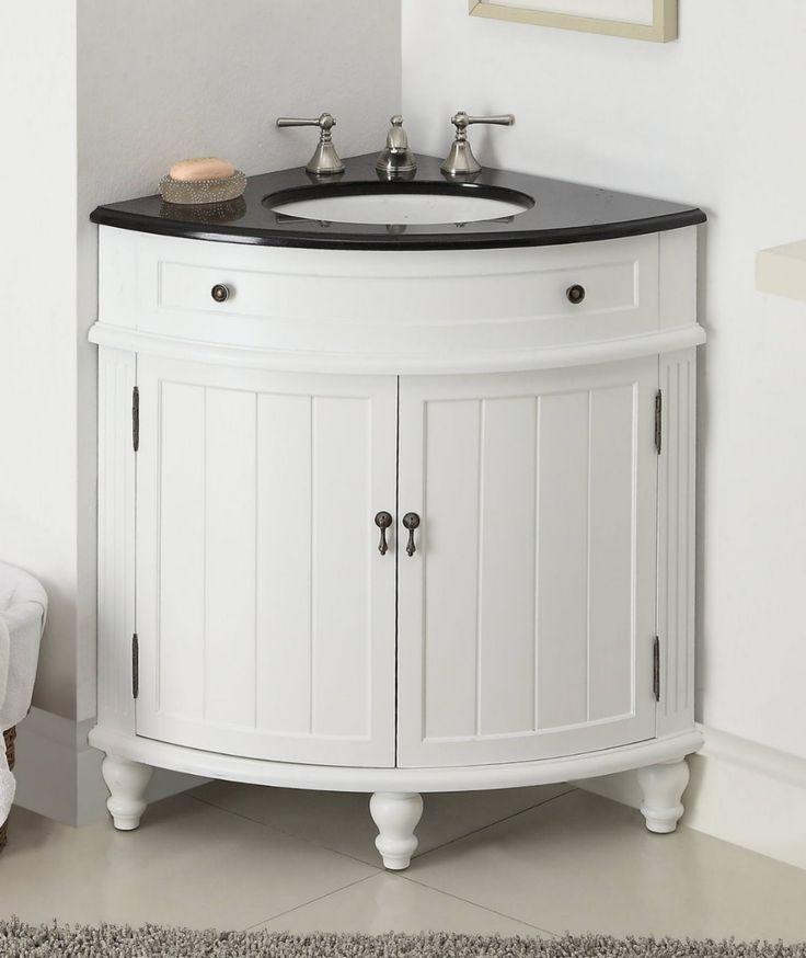 corner sink in white pine cupboard